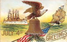 foj000011 - July 4th Independence Day Post Card