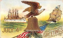 foj000012 - July 4th Independence Day Post Card