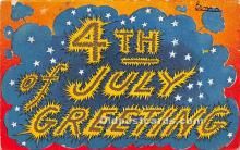 foj000013 - July 4th Independence Day Post Card