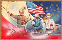 foj000019 - July 4th Independence Day Post Card