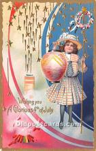 foj000055 - July 4th Independence Day Post Card