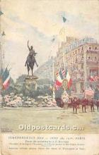 American Red Cross postcard on back side, Painting by J.F. Bouchor