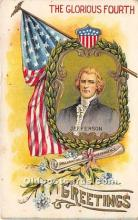 foj000081 - July 4th Independence Day Post Card