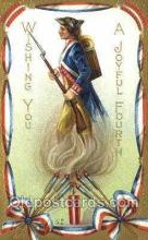 foj001175 - Wishing you a joyful fourth Artist E. Nash, Fourth of July 4th, Independence Day, Old Vintage Antique Postcard Post Card