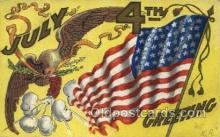 foj001197 - Fourth of July 4th, Independence Day, Old Vintage Antique Postcard Post Card