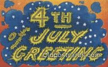 foj001211 - 4th, Fourth of July Postcard Post Card Old Vintage Antique