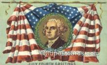 foj001224 - Fourth, 4th of July Postcard Post Card Old Vintage Antique