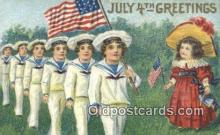 foj001232 - Fourth, 4th of July Postcard Post Card Old Vintage Antique