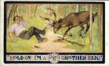 fra001002 - Brother Elk, Fraternal Postcard Post Card