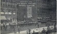 fra001006 - Knights Templar 31st Triennial Conclave, Michigan Ave, Fraternal Postcard Post Card