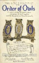 fra001012 - Order of Owls, Fraternal Postcard Post Card