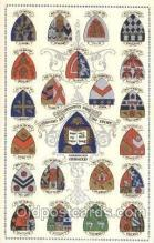 fra150001 - Oxford University, Arms of the Colleges of Oxford, Coat of Arms Fraternal, Fraternity, Postcard, Post Card