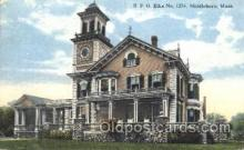 fra200036 - Middleboro, Mass, USA Fraternal Elks Club (B.P.O.E.) Postcard Post Card