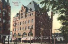 fra400044 - Burlington, Vt. USA Mason, Mason's Fraternal Organization, Postcard Post Card