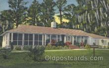 fra500006 - Moosehaven, Florida, USA , Old Dominion Building, Sponsored by the Moose Lodges of  Virginia, Fraternal Moose Club, Postcard Post Card