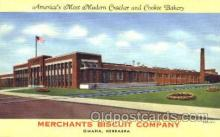 fty001006 - Merchants Biscuit Company, Omaha, NE Factory Postcard Post Card