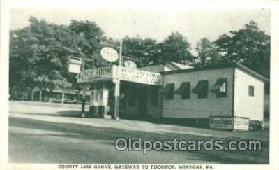 gas001044 - Country Line Grove, Windgap, PA, USA Gas Station Stations Postcard Post Card