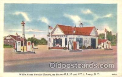 gas001047 - White Horse Service Station, Irving New York, N.Y., USA Gas Station Stations Postcard Post Card