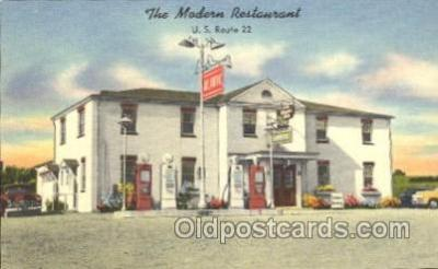 gas001051 - The Modern Restaurant, Lancaster PA, USA? Gas Station Stations Postcard Post Card