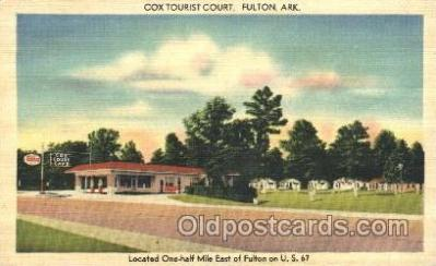 gas001053 - Cox Torist Court, Esso, Fulton, Arkansas, USA Gas Station Stations Postcard Post Card