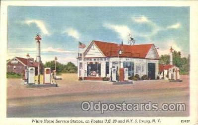 gas001060 - White Horse, Irving, New York, N.Y. USA Gas Station Stations Postcard Post Card