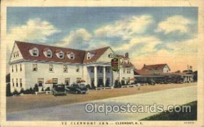 gas001061 - Ye Clearmont, Inn, Clermont, New York, N.Y., USA Gas Station Stations Postcard Post Card