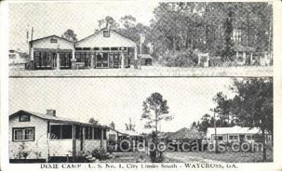 gas001070 - Dixie Camp, Waycross, Georgia, USA Gas Station Stations Postcard Post Card