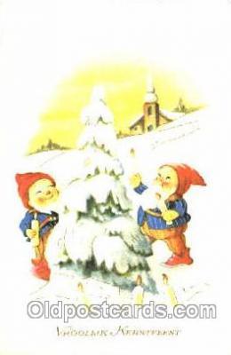 gns001031 - Gnomes, Elves, Postcard Post Card