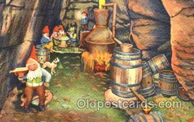 gns001076 - Moonshine Still in Rock City Gardens, lookout Mountain, Gnomes, Elves, Fairy, Faries, Postcard Post Card