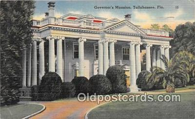 gom001025 - Governor's Mansion Tallahassee, FL, USA Postcards Post Cards Old Vintage Antique