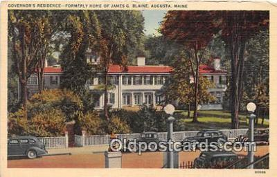 gom001027 - Governor's Residence, Formerly Home of James G Blaine Augusta, Maine, USA Postcards Post Cards Old Vintage Antique
