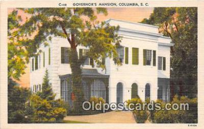 gom001028 - Governor's Mansion Columbia, SC, USA Postcards Post Cards Old Vintage Antique