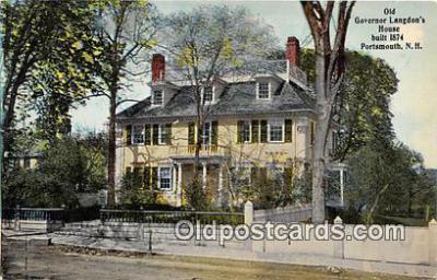 gom001049 - Old Governor Langdon's House 1874 Portsmouth, NH, USA Postcards Post Cards Old Vintage Antique