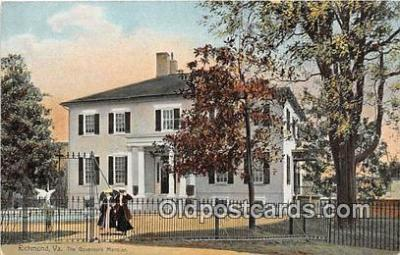 gom001050 - Governor's Mansion Richmond, VA, USA Postcards Post Cards Old Vintage Antique