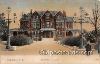gom001058 - Governor's Mansion Raleigh, NC, USA Postcards Post Cards Old Vintage Antique
