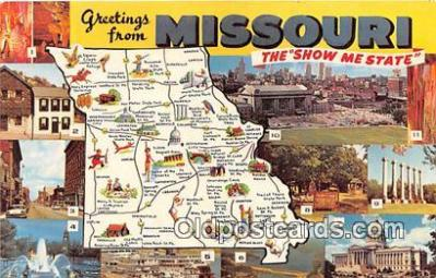 gre000025 - Missouri, USA Postcards Post Cards Old Vintage Antique
