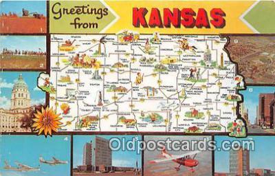 gre000050 - Kansas, USA Postcards Post Cards Old Vintage Antique