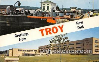 gre000198 - Troy New York, USA Postcards Post Cards Old Vintage Antique