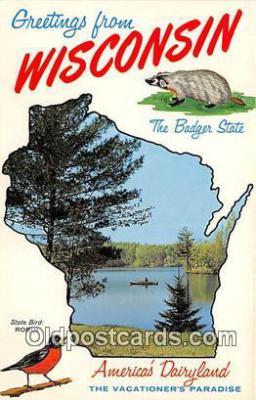 gre000236 - Wisconsin, USA Postcards Post Cards Old Vintage Antique