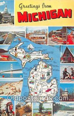 gre000267 - Michigan, USA Postcards Post Cards Old Vintage Antique
