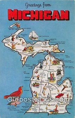 gre000268 - Michigan, USA Postcards Post Cards Old Vintage Antique