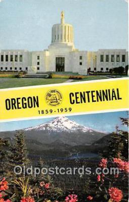 gre000295 - Centennial 1859-1959 Oregon, USA Postcards Post Cards Old Vintage Antique