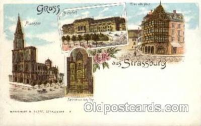 gsa001010 - Strassburg Gruss Aus, Postcard Post Card