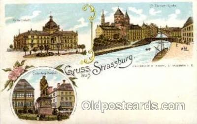 gsa001017 - Strassburg Gruss Aus, Postcard Post Card