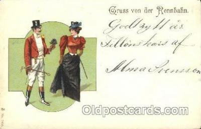 gsa001074 - Gruss Von der Rennbahn Gruss Aus Postcard Post Card