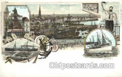 gsa001088 - Gruss Aus Bremerhaven Postcard Post Card