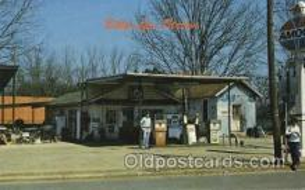gas001048 - Billy's Gas Station, Plains, Georgia, USA Gas Station Stations Postcard Post Card