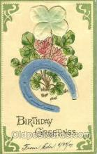 glk001005 - Birthday Greetings Old Vintage Antique Postcard Post Card