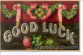 glk001016 - Good Luck Old Vintage Antique Postcard Post Card