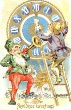 gns001015 - New Years Greetings, Gnomes, Elves, Postcard Post Card